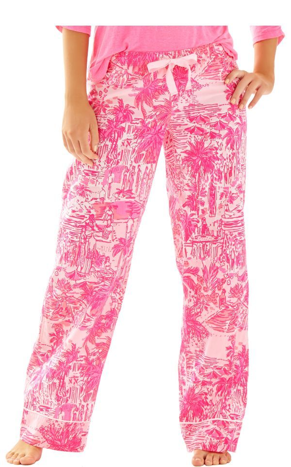 91a69dcc3379c0 LOVE These pj's!!! Printed Pajama Pant - Lilly Pulitzer Paradise Pink Rule  Breakers medium please!!!