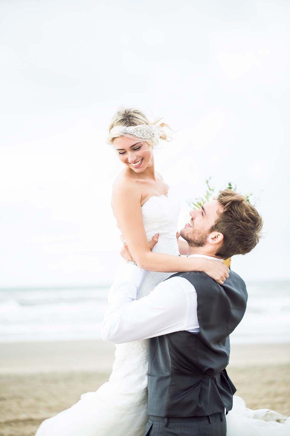Eine Nostalgische Strand Hochzeitsinspiration Macht Lust Auf Die