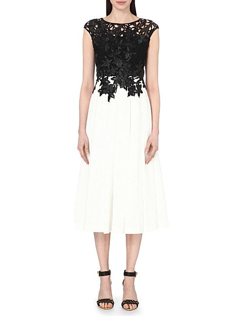 TED BAKER Ilsa embroidered appliqué midi dress | Ted Baker | Pinterest