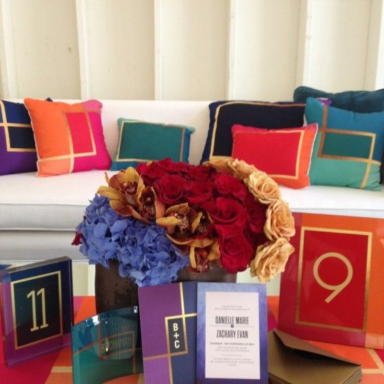 A bold invitation, indeed. Mindy Weiss Colorblock collection.