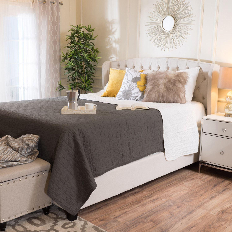 Jayden Ivory Upholstered Queen Bed