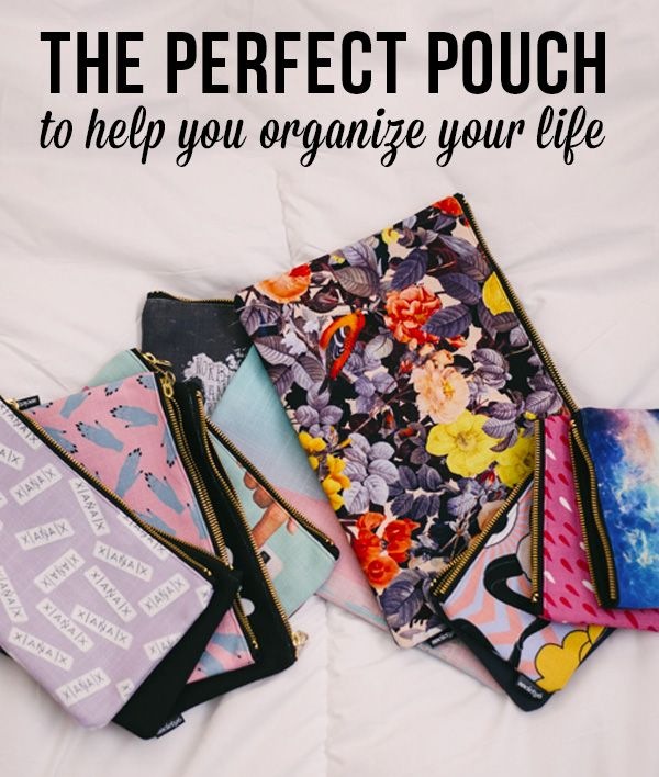 Snatch up the perfect pouch to help you organize your life. Available in three sizes with wrap-around artwork, these pouches are perfect for carrying toiletries, art supplies or makeup. You can even drop an iPad into the large one. Comes with the ever-awesome YKK zipper, a strong canvas-like exterior, a 50/50 poly-cotton black interior lining and is machine washable. Carry on, carry on.