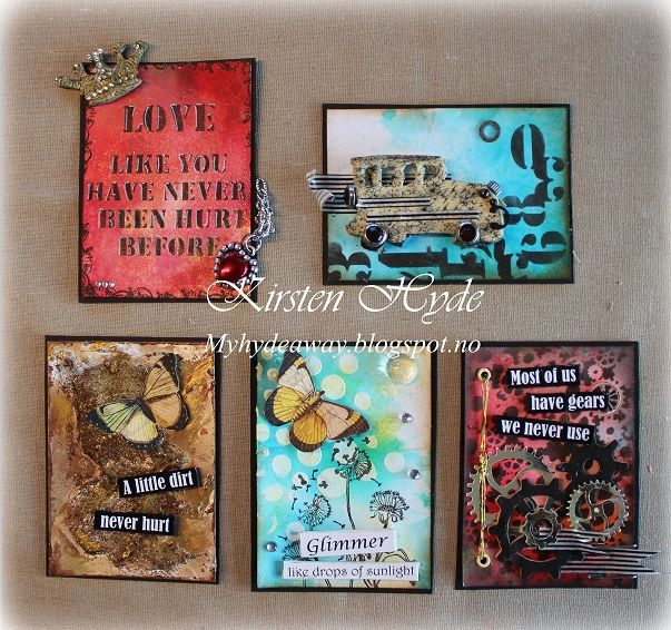 I have thought about making some ATCs for a long time, so ...