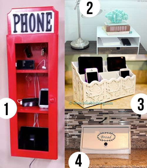 A Place For Electronic Devices Easy Diy Charging Station Clutter Organizations And Small Nightstand