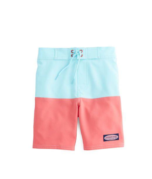 9bfb60bc36 Boys Stretch Pieced Board Shorts | stuff i want | Vine boys ...
