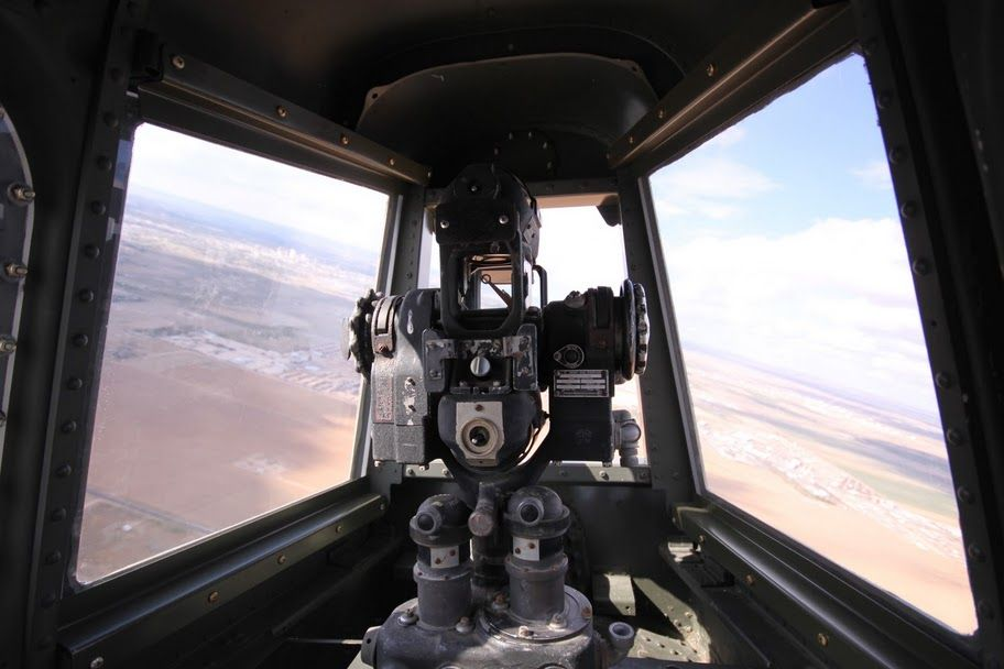"""Fly in """"Fifi"""" - the last functioning B-29 in the world - view from the Tail Gunner position. (My Photo)"""