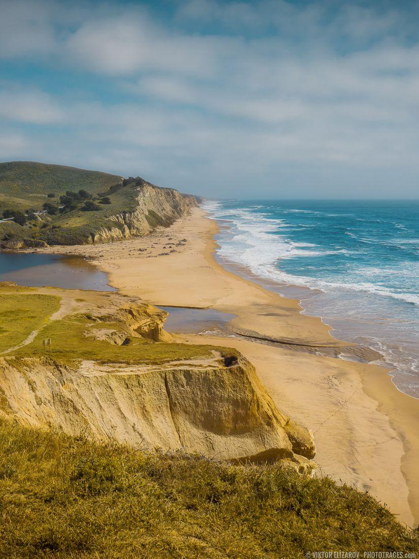 San Gregorio State Beach View California