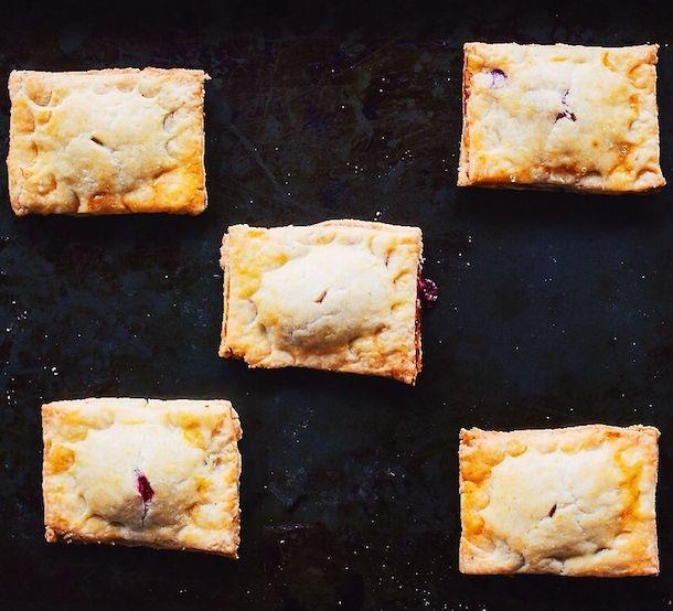 Gluten-Free Raspberry Rhubarb Hand Pies   non dairy yogurt and vegan butter