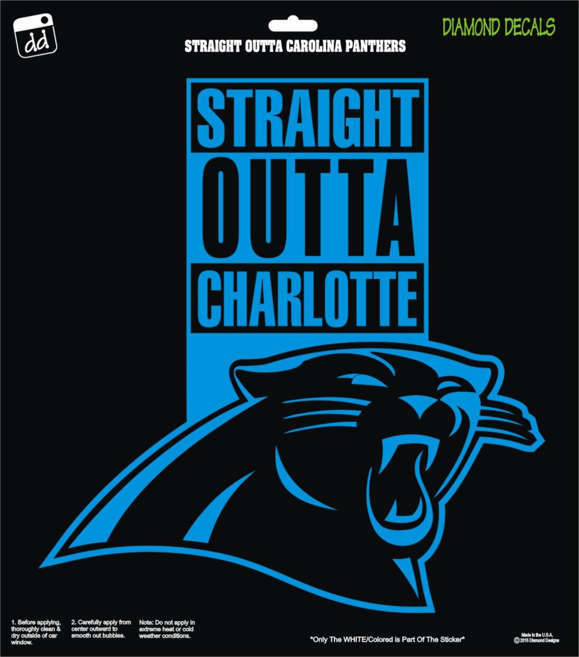 low priced 57722 661b5 Straight Outta Carolina Panthers NFL Football Team Decal ...