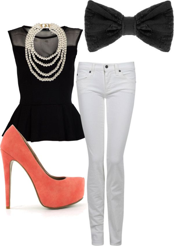 Elegance meets casual, created by singingspiker on Polyvore