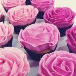 Rose fondant cupcake