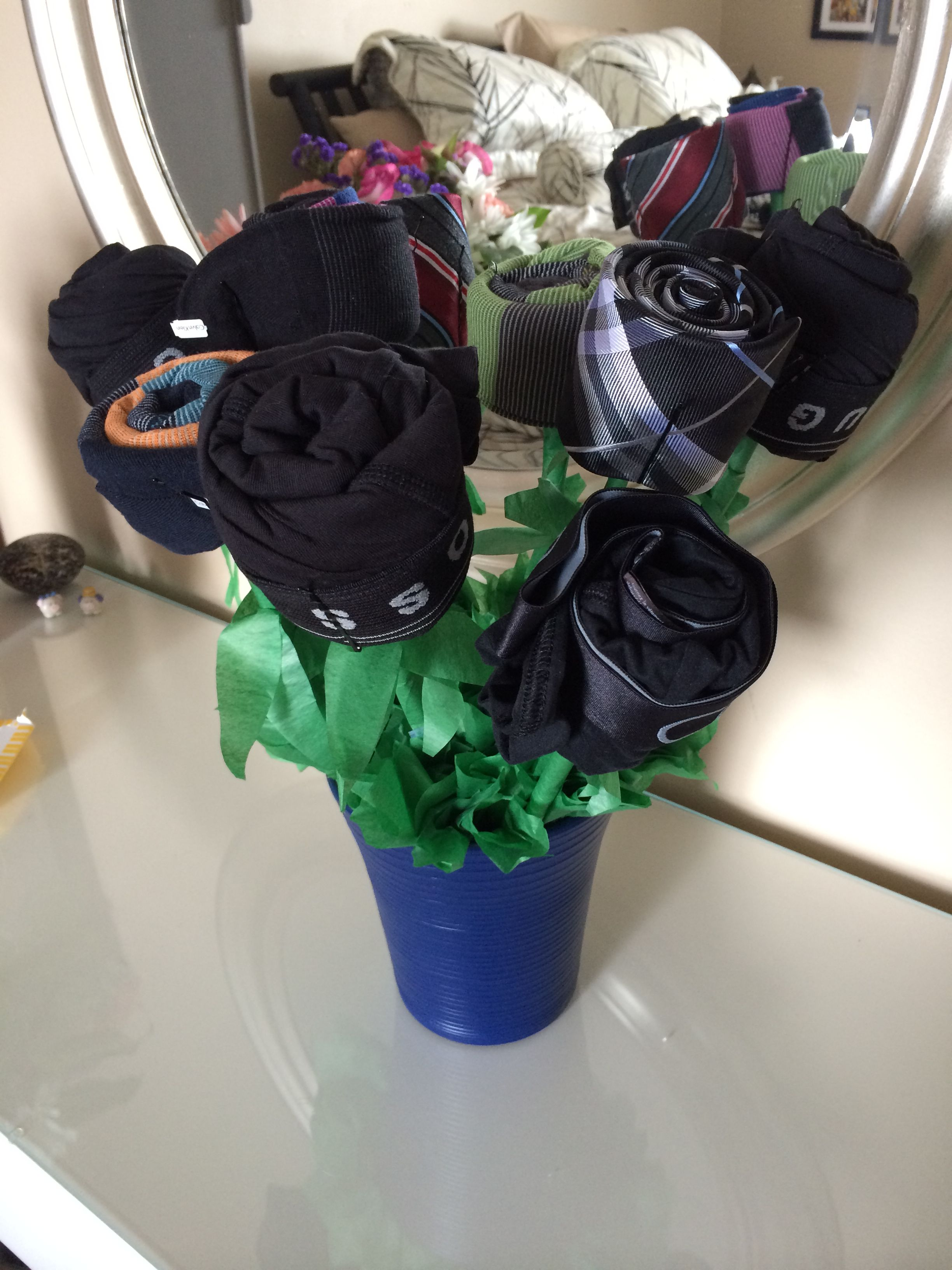 Mens Flower Bouquet What You Need Flower Pot Scissors Tape