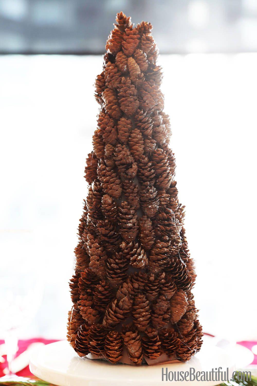 Diy the holidays mini sparkly pinecone tree pinecone pine cone diy the holidays mini sparkly pinecone tree solutioingenieria Images