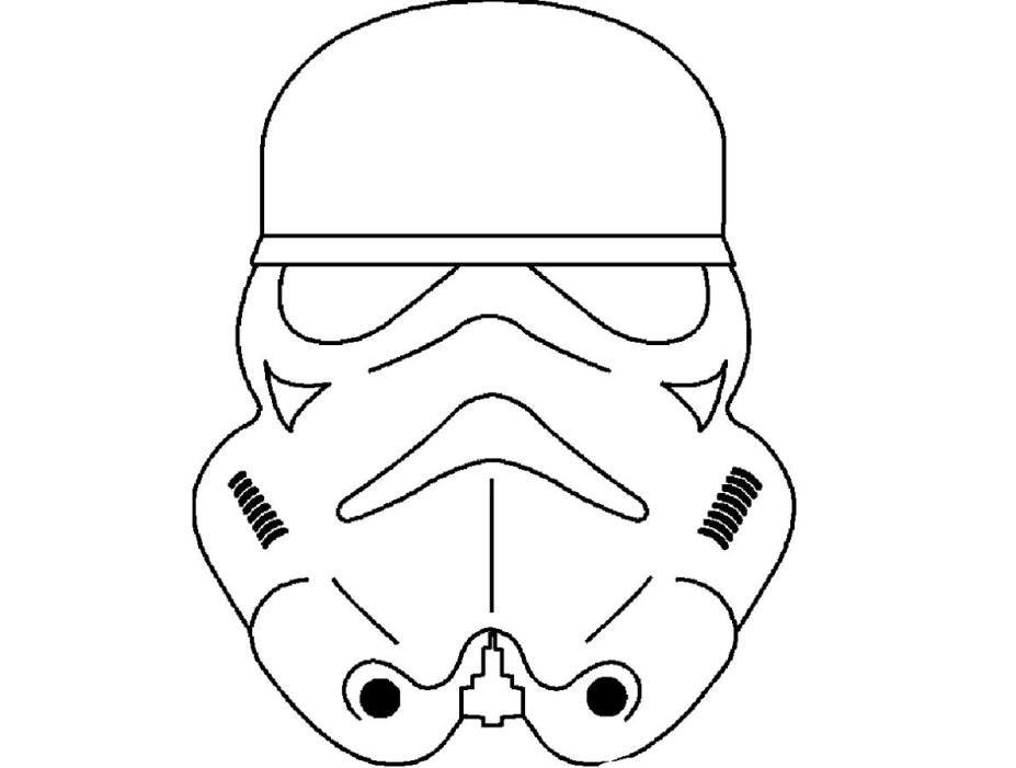 Masque De Strom Troopers A Imprimer Et Colorier Coloriage Masque