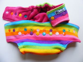 Fabulousness!!!!  One Size  Fitted Cloth Diaper Rainbow Brights w/ rainbow snaps