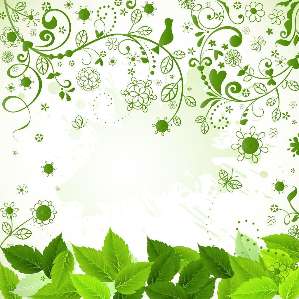 2018 年の「[フリーイラスト素材] イラスト, 背景, 植物, 葉っぱ, 緑色