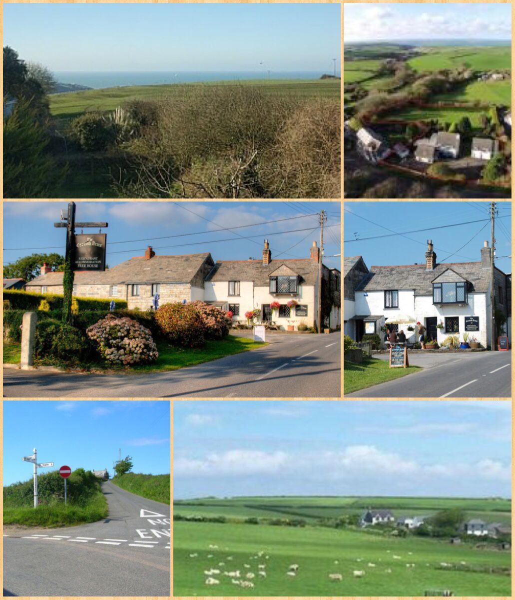 Pendoggett (Cornish: Penndewgos) is a village in the civil