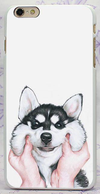 Lovely Siberian Husky Rigid Case Cover Capa Coque Shell For All