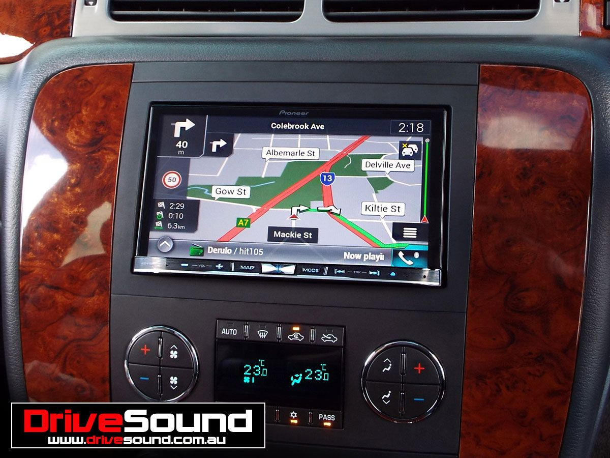 Chevrolet Avalanche with the Pioneer AVICF70DAB indash