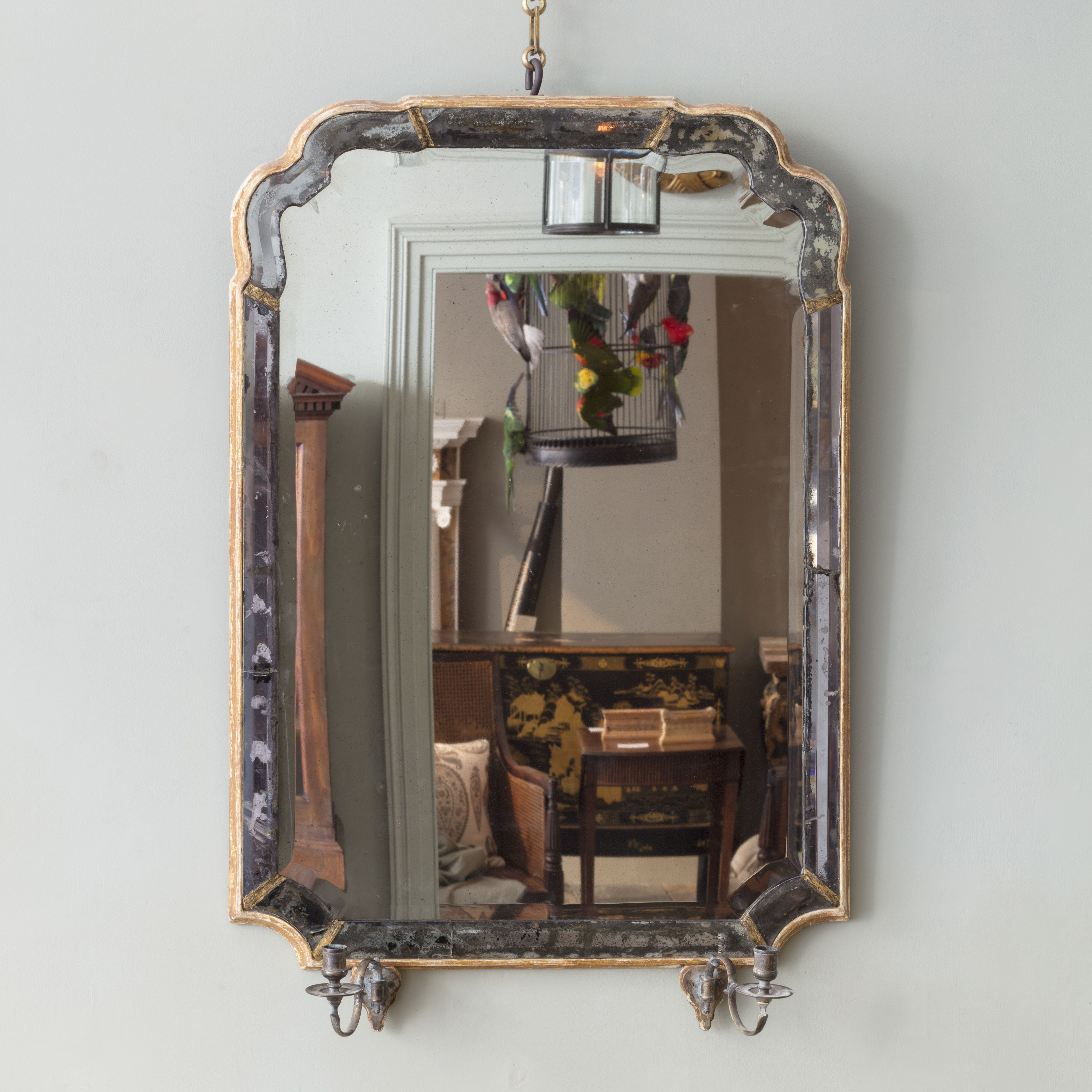 A Rare Queen Anne Marginal Wall Mirror Mirror Unique Mirrors