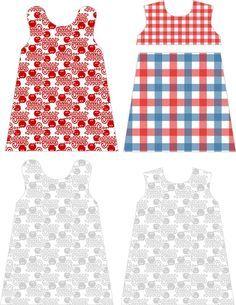 Fabrik der Träume: Gratis Nähanleitung und Schnittmuster für ein holländisches Babykleid (in 6 verschiedenen Größen) #sewins