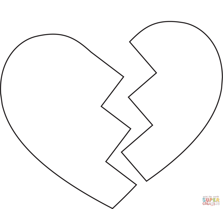 Broken Heart Super Coloring Heart Coloring Pages Coloring Pages Love Coloring Pages