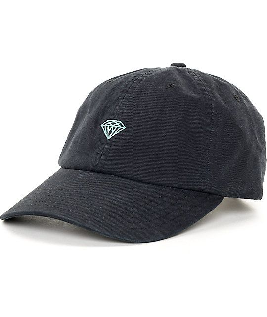 98f6f7db757a6d Keep your look luminous with this Brilliant black and blue strapback hat  from Diamond Supply Co