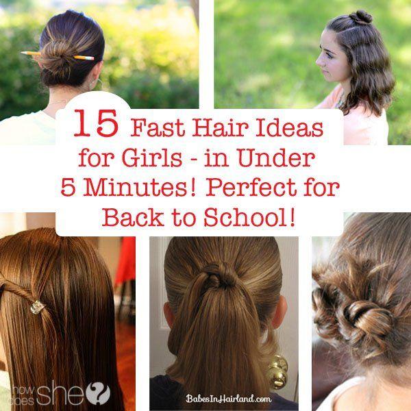 Fast Hair Ideas for Girls | Hair style, Girl hair and Children ...
