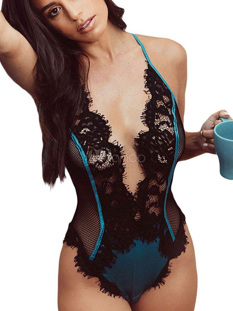 5217bf21ec392 Women Sexy Teddies Lace Plunging Lingerie Nightwear #Teddies, #Sexy, #Women