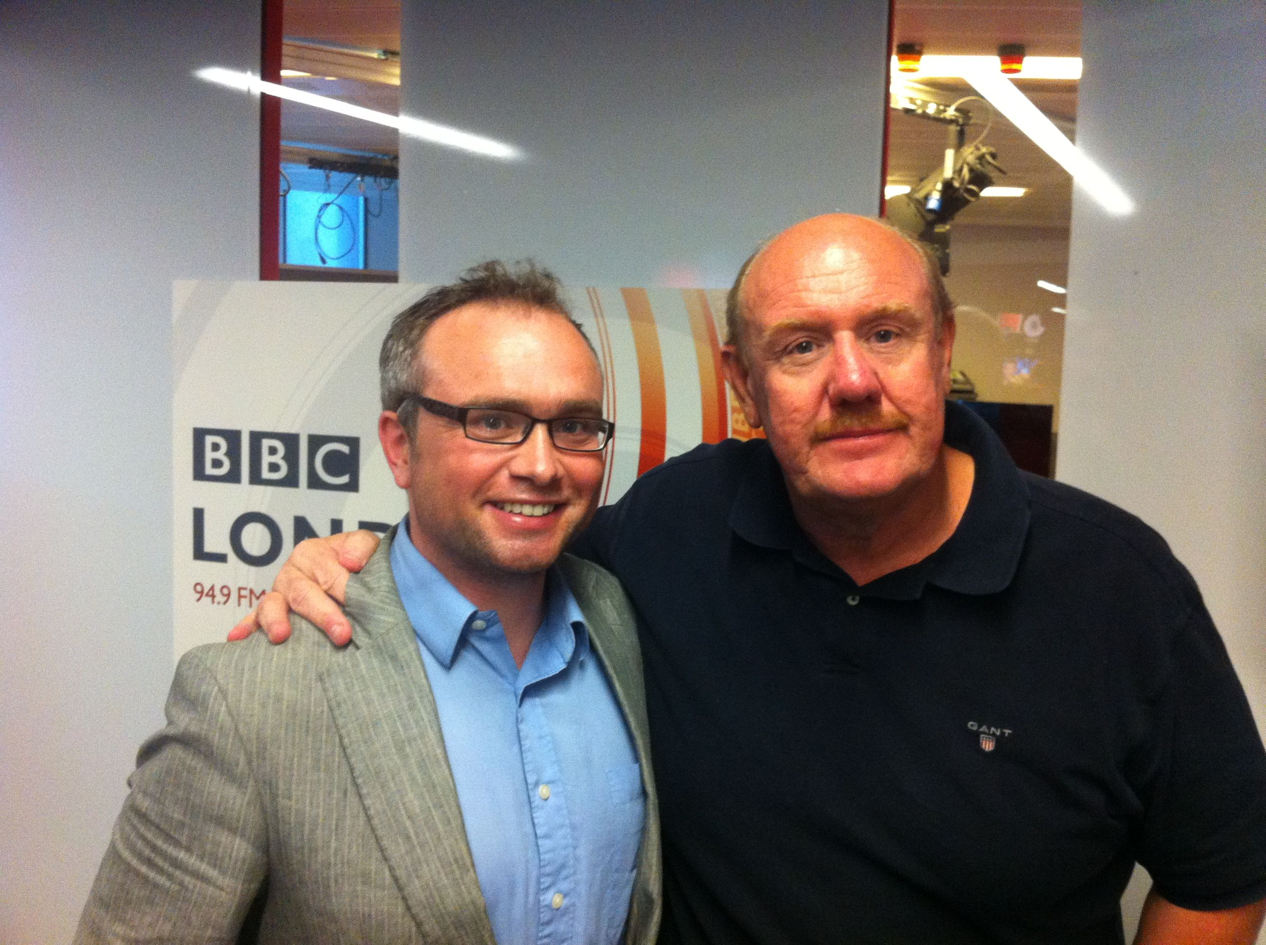 Brian Barwick With Andy Rowley At Bbc Radio London Bbc Radio London Bbc Radio Rowley