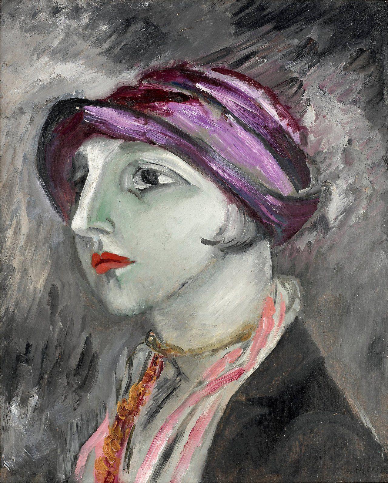 The Violet Hat 1923 Sigrid Hjertén