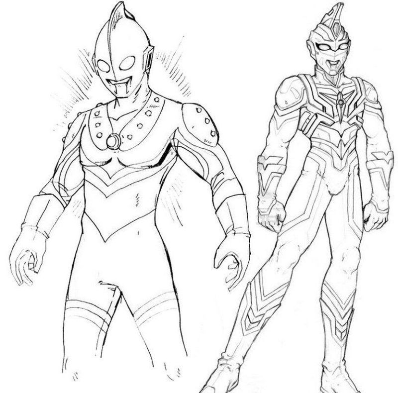 Ultraman Zero Coloring For Those Of You Who Are Movie Lovers Who Have A Super Hero Genre From Japan You Must Have Heard T Buku Mewarnai Lembar Mewarnai Warna