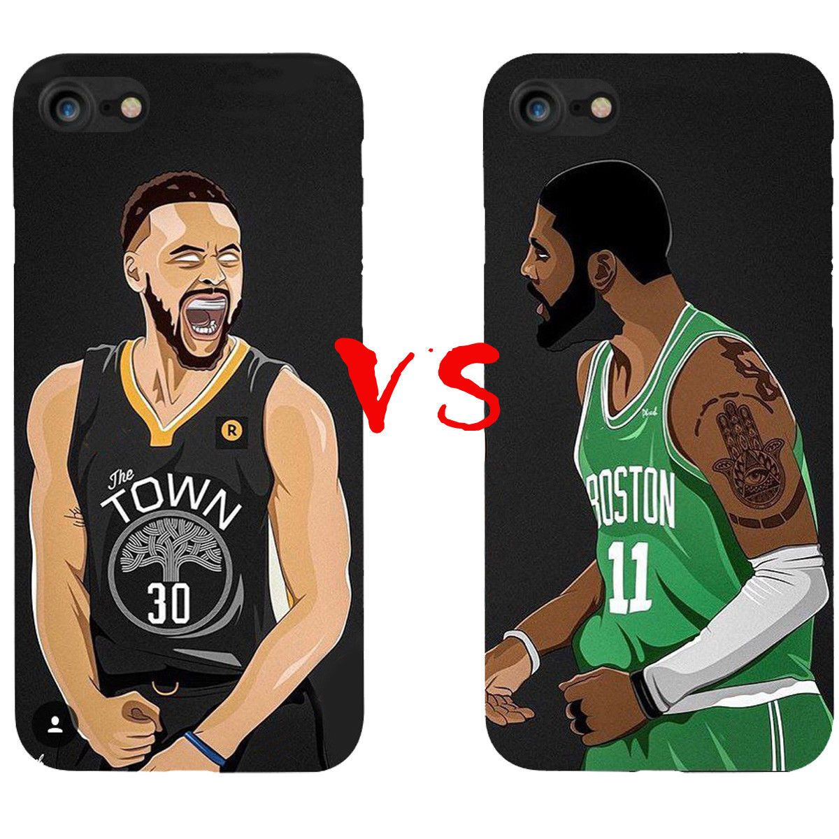 b6e2ed1d8a195 Details about Kyrie Irving VS Stephen Curry Silicone Case For iphone ...
