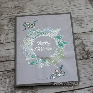 Christmascard with deco foil