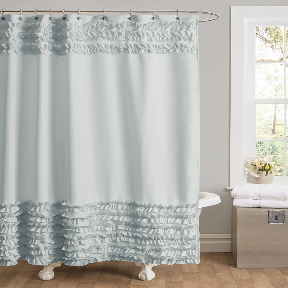 Skye Fabric Shower Curtain Ruffle Shower Curtains Fabric Shower