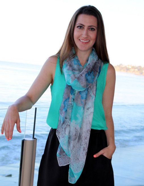 Our Parrot Floral Scarf is ideal for elegant or every day wear too.