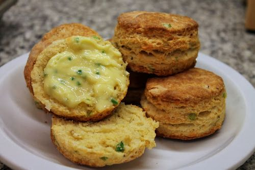 Cheesy Scallion-Corn Biscuits
