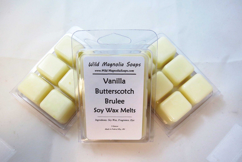 Soy Candle Melts Soy Wax Tart Wax Melts Sandalwood Vanilla Wax Melts Wax Warmer Scented Soy Tart Soy Wax Melts Clamshell Melts