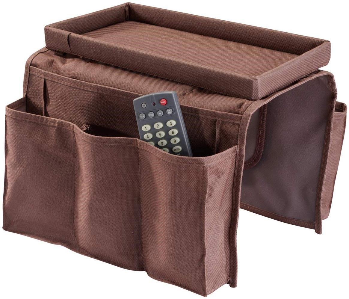 6 Pocket Sofa Arm Rest Organizer Caddy Couch Buddy Remote