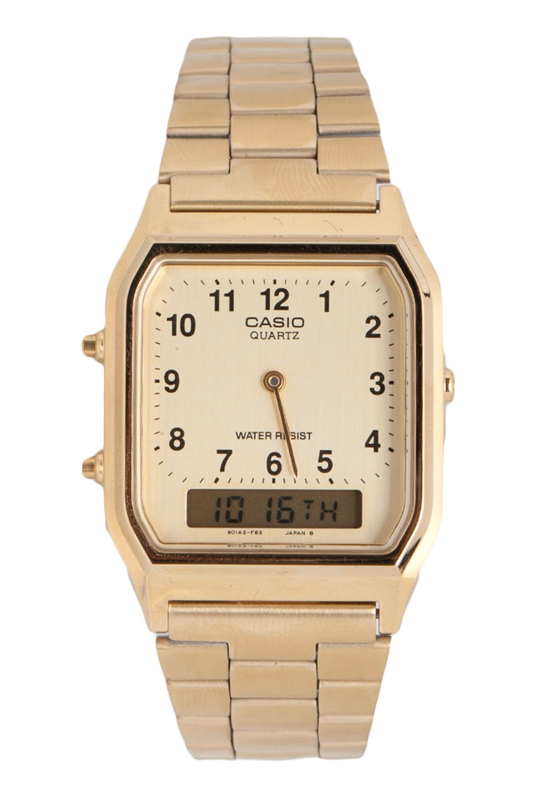 63f3ac9ae94c8 Relógio Casio AQ-230GA-9BMQ Dourado   acessórios.   Relógio casio ...