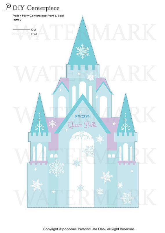 Frozen Centerpiece For Frozen Birthday Party By Popobell On Etsy Frozen Birthday Party Frozen Centerpieces Frozen Party