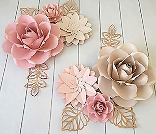 Amazing Offer On Bubbapaint 3d Paper Flower Decorations Wall Backdrop Dcor Giant Size Pre Assembled Flower Girld Nursery Wall Decor Wendding Bridal Show In 2020 Paper Flower Wall Decor Paper Flower Decor