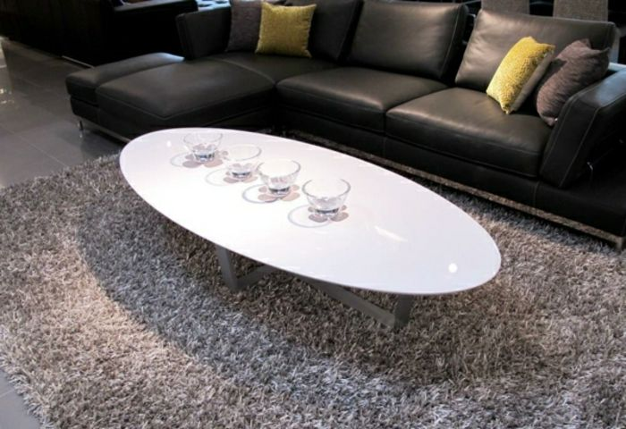 Ovaler Couchtisch Edel Weiss Lack Oval Coffee Tables Coffee Table Coffee Table White