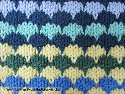 Multi-color Stitch Pattern | Stitch patterns