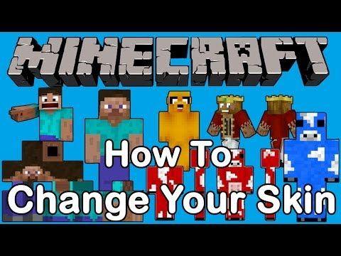 Minecraft How To Change Your Skin Minecraft Skin Skin Minecraft