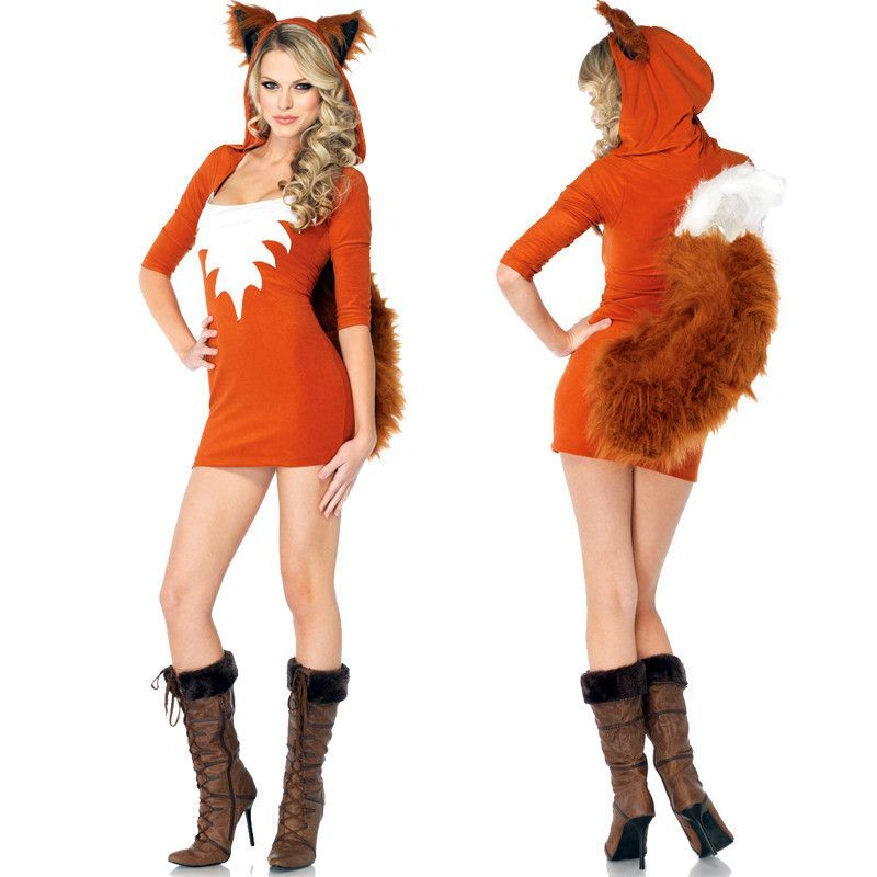 c89537a469d Halloween Costumes Sexy Fox Uniform Cosplay Animal Fox Role Play Dress Funny  Cute Masquerade Clothes