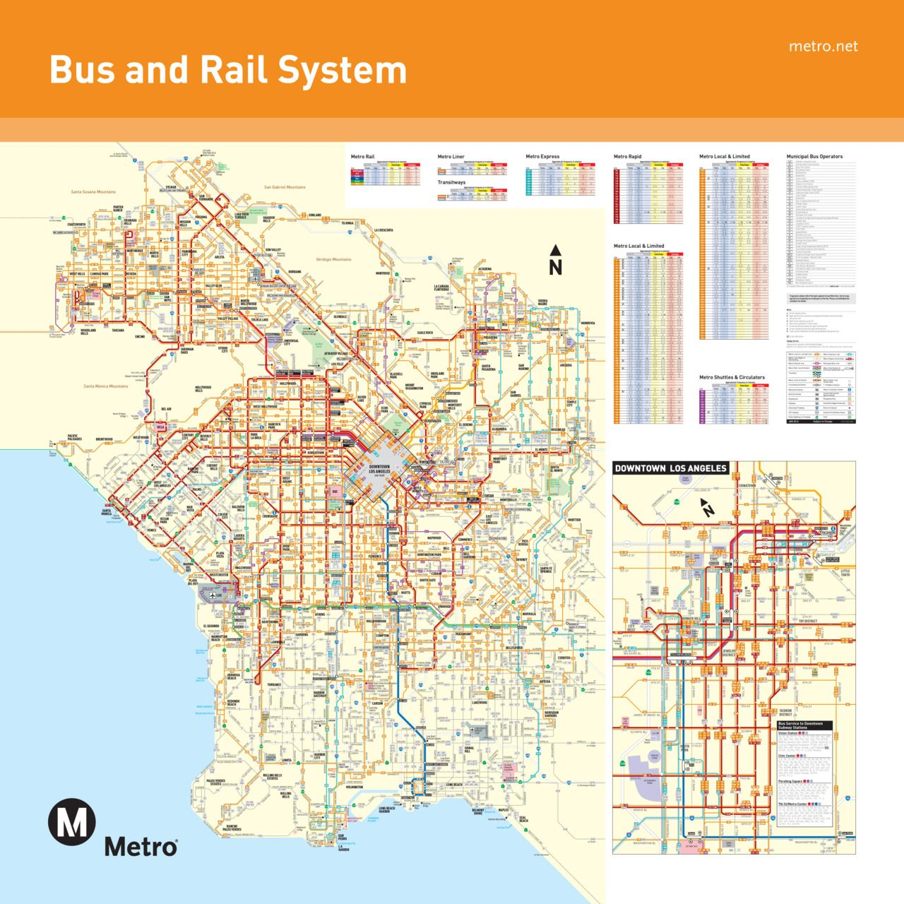 This Is Beautiful But Difficult To Use Transit Map Los Angeles Map