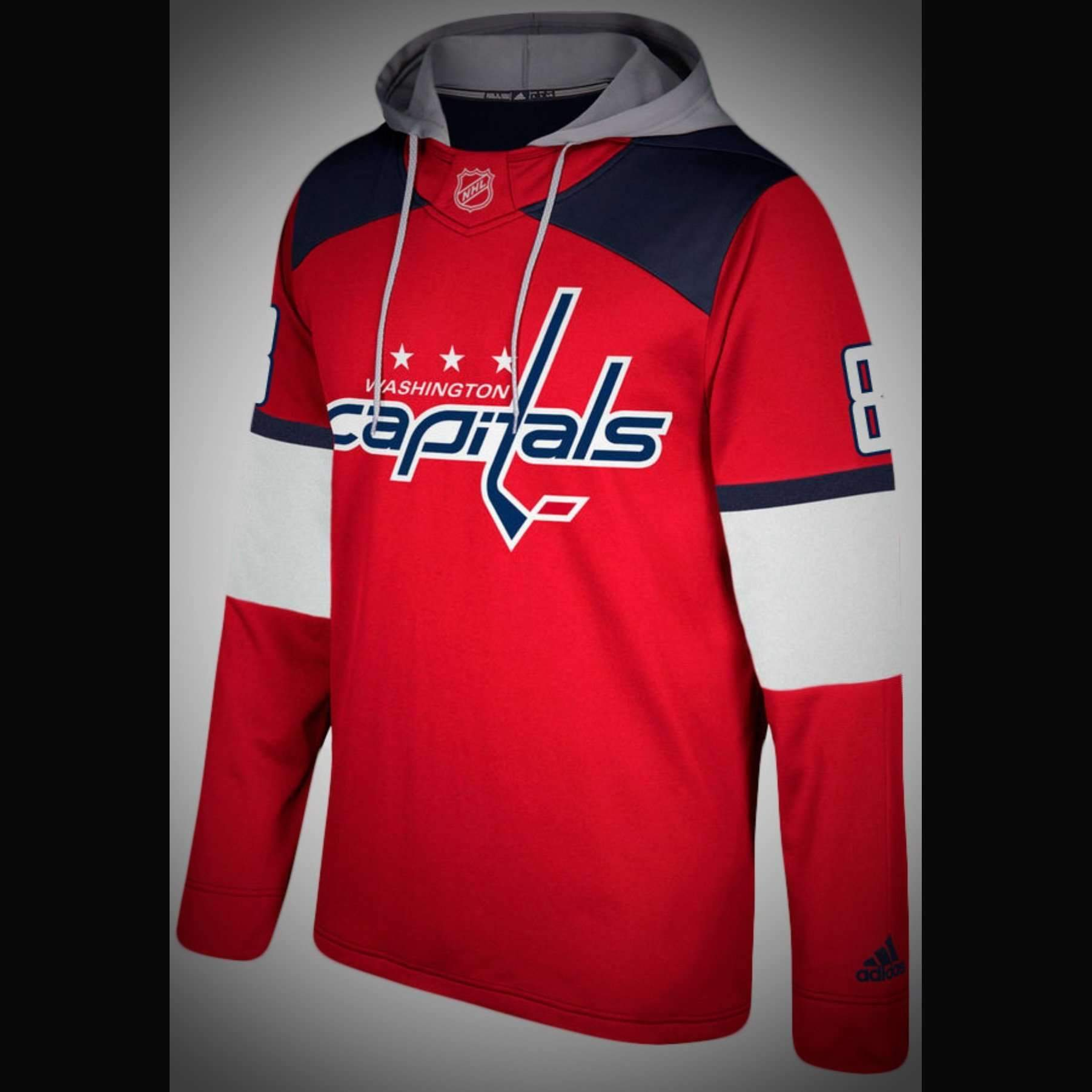 Washington Capitals Adidas NHL Hockey Jersey Style Hoodie  http   jerseybarn.com  a9722008c