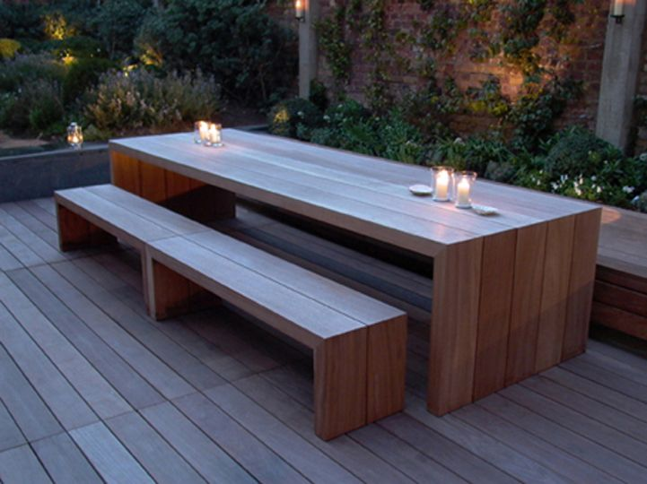 Garden Bench Table Part - 18: 40 Awesome Outdoor Bench Seat With Table Images