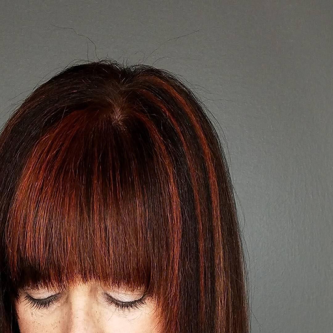 Donut forget your fringe We love the supersubtle red hair color